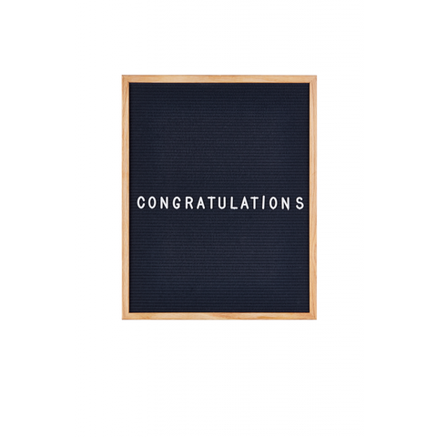 Large Midnight Blue Felt Letter Board by gingersnap on OOSTOR.com