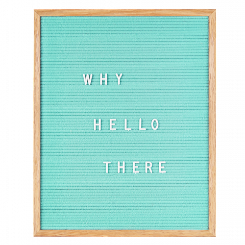 Large Mint Green Felt Letter Board by gingersnap on OOSTOR.com