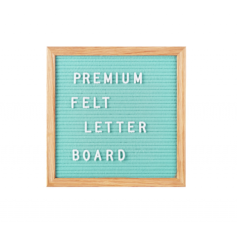 Small Mint Green Felt Letter Board by gingersnap on OOSTOR.com
