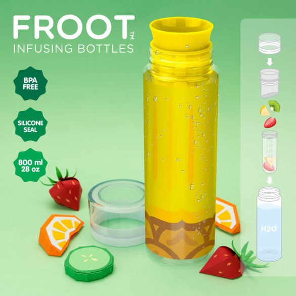 Pineapple Froot Infusing Bottle by Mustard Gifts on OOSTOR.com