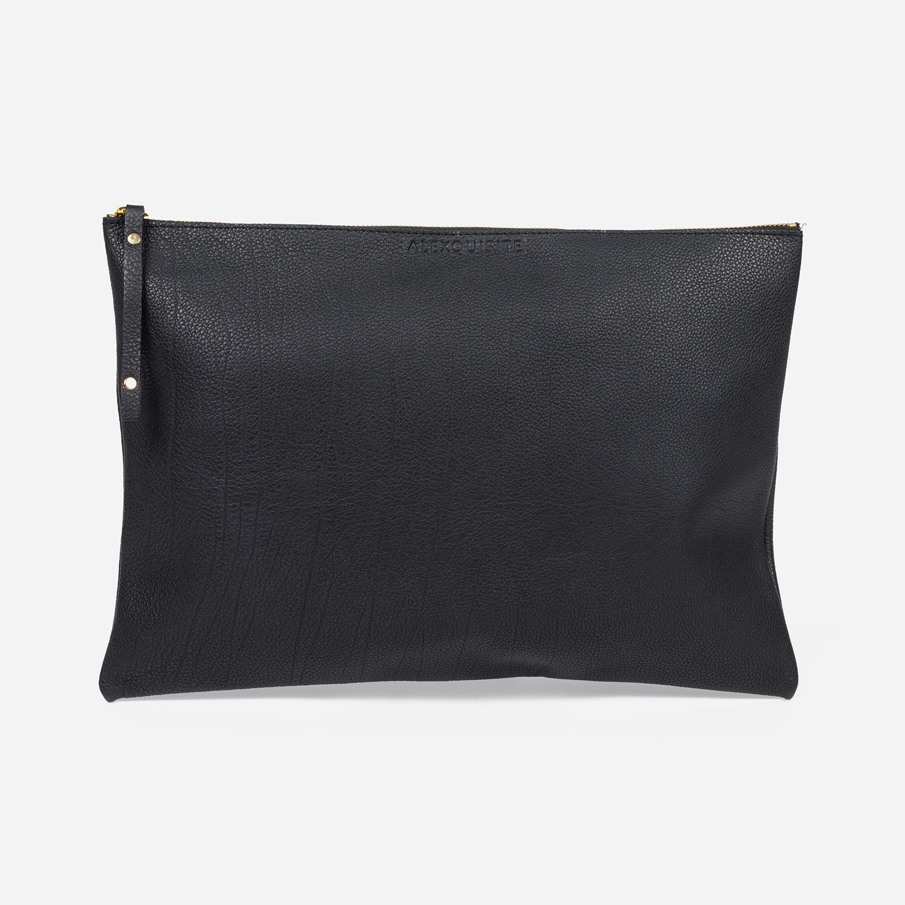 Pure Leather Pouch Bag - Black by Alexquisite on OOSTOR.com