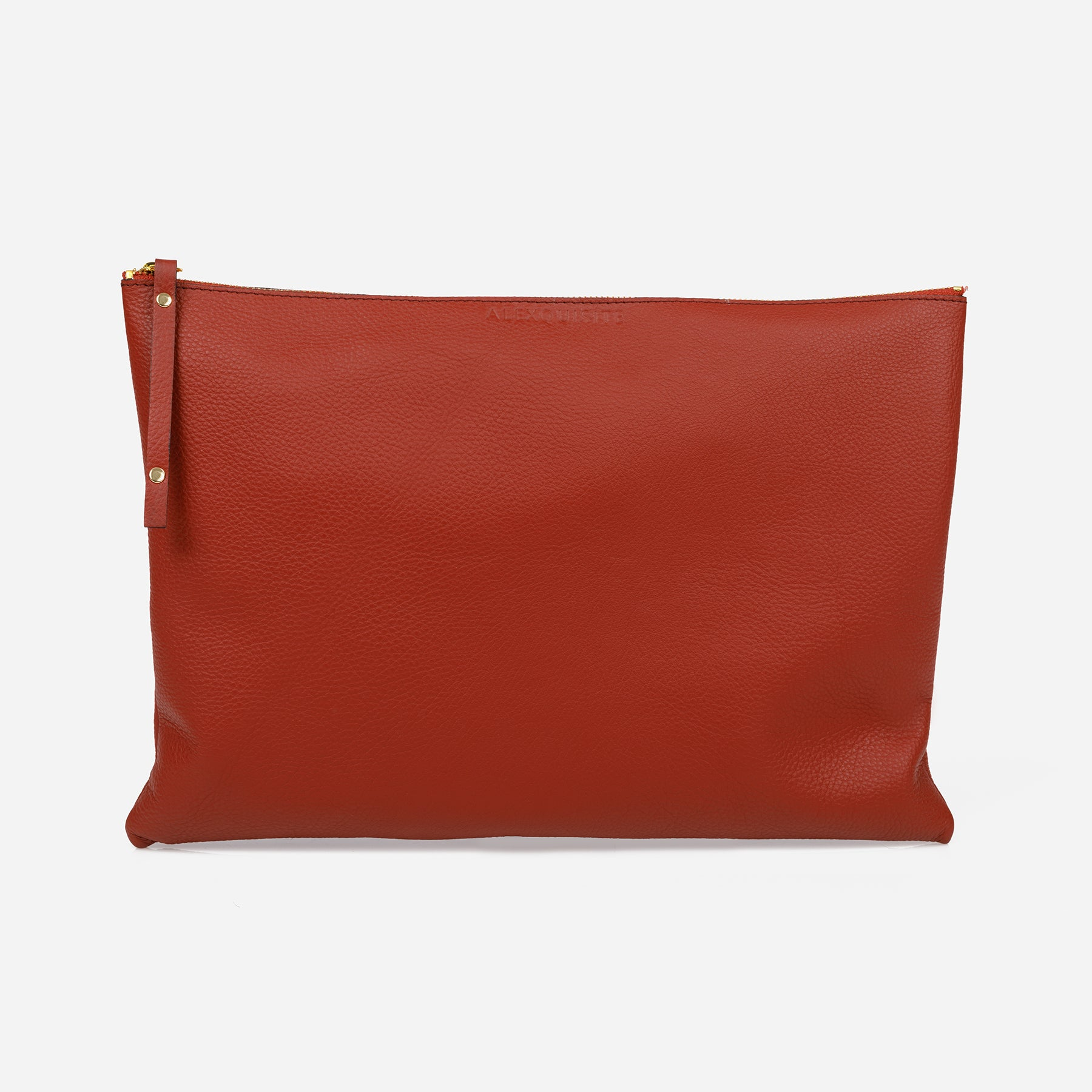 Pure Leather Pouch Bag - Brick by Alexquisite on OOSTOR.com