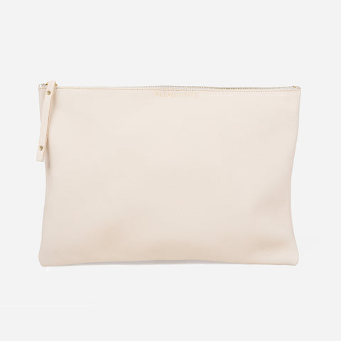 Pure Leather Pouch Bag - Ivory by Alexquisite on OOSTOR.com