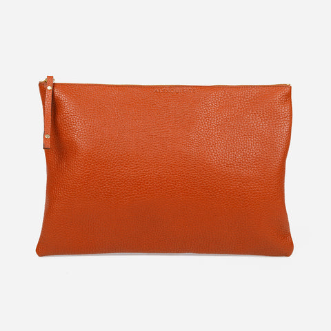 Pure Leather Pouch Bag - Tobacco by Alexquisite on OOSTOR.com