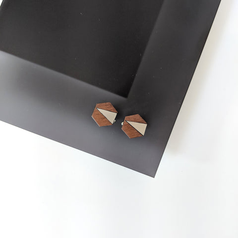 The Adam - Steel Cufflinks by form.london on OOSTOR.com