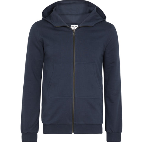 Navy Brushed Back Cotton Hoody