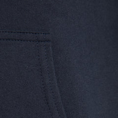Navy Brushed Back Cotton Hoody by Tress Clothing on OOSTOR.com