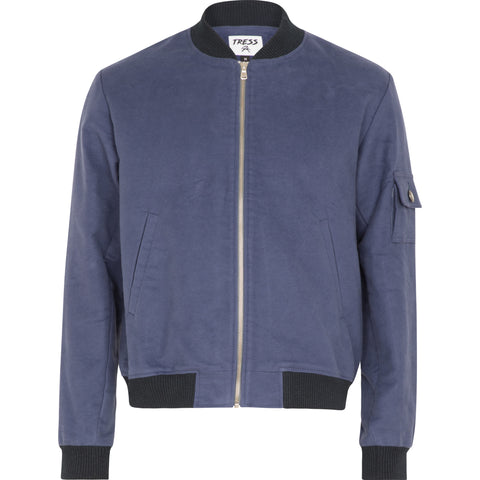 Midnight Bomber Jacket - French Blue