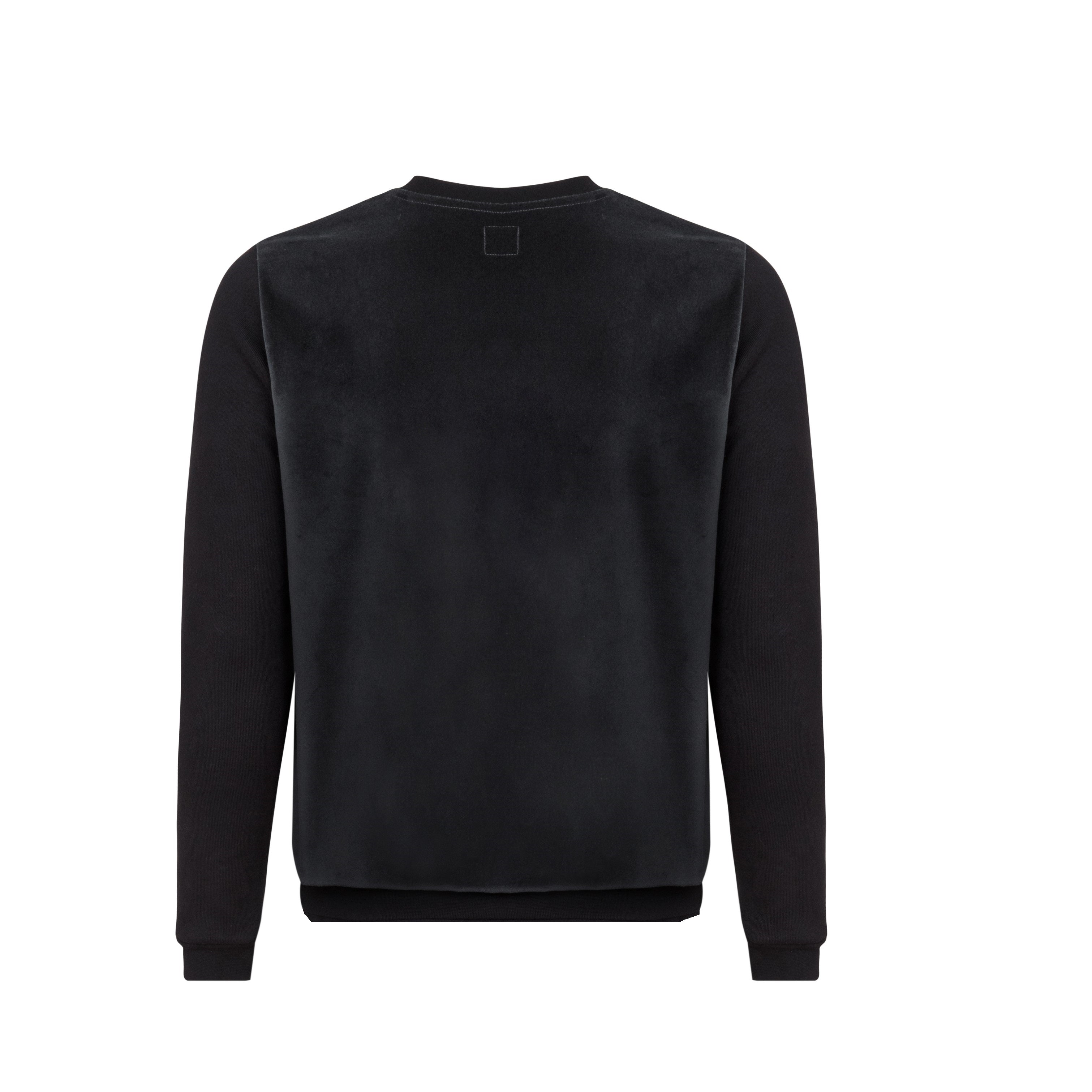 Black Cotton Cashmere Sweater by Tress Clothing on OOSTOR.com