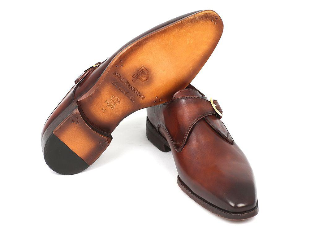 Paul Parkman Monkstrap Dress Shoes Brown & Camel by PAUL PARKMAN on OOSTOR.com