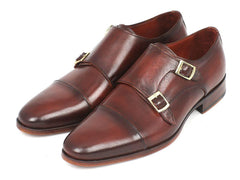 Paul Parkman Men's Cap-Toe Double Monkstraps Brown by PAUL PARKMAN on OOSTOR.com