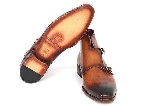 Paul Parkman Double Monkstrap Boots Brown by PAUL PARKMAN on OOSTOR.com