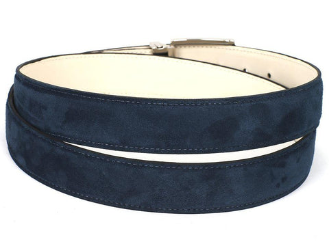 PAUL PARKMAN Men's Navy Suede Belt by PAUL PARKMAN on OOSTOR.com