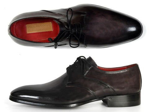 Paul Parkman Men's Anthracite Black Derby Shoes by PAUL PARKMAN on OOSTOR.com