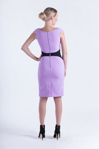 Rose dress lavander/black