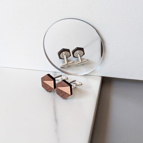 The Adam - Copper Cufflinks by form.london on OOSTOR.com