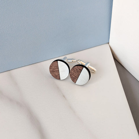 The James - Steel Cufflinks by form.london on OOSTOR.com