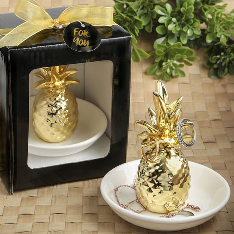 Ceramic Pineapple Ring Holder by Sole Favors on OOSTOR.com