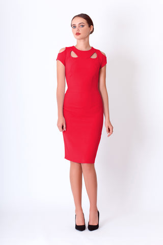 Aisha dress in red
