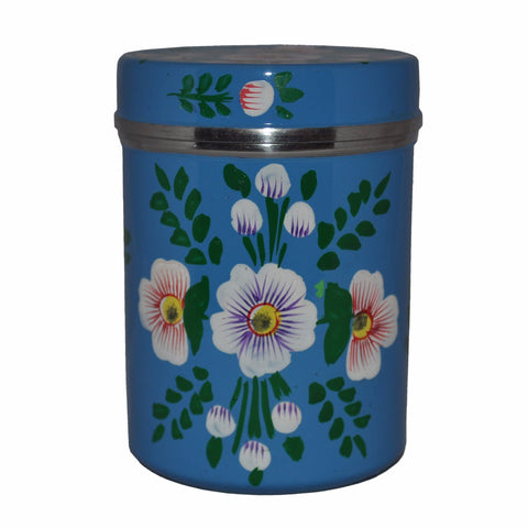 Azure Blue & White Posy Large Tea Caddy by Jasmine White on OOSTOR.com