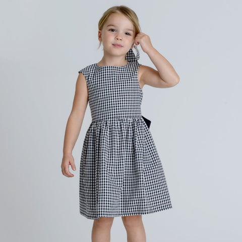 Ayla Girls Gingham Dress by Zalinah White on OOSTOR.com