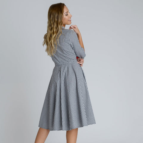 Alice Swing Midi Dress by Zalinah White on OOSTOR.com