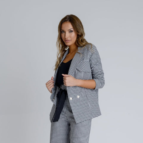 Arlene Longline Blazer by Zalinah White on OOSTOR.com