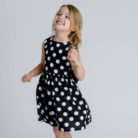 Ayla Girls Polka Dot Dress by Zalinah White on OOSTOR.com