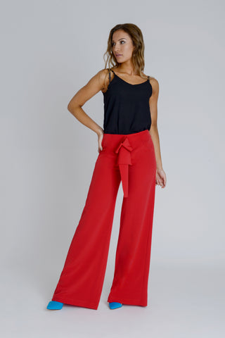 Avalon Wide Leg Trousers by Zalinah White on OOSTOR.com