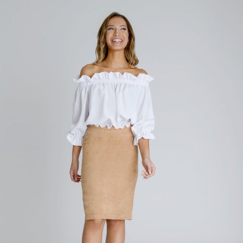 Ashley Bardot Top by Zalinah White on OOSTOR.com