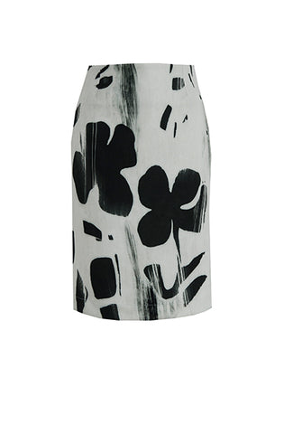 Black and White Lucky Skirt by Bubala