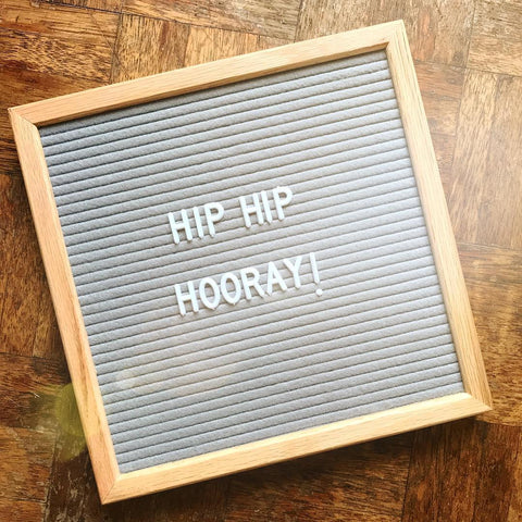 Small Vintage Grey Felt Letter Board by gingersnap on OOSTOR.com