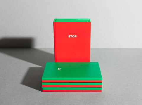 Wellcome Collection Stop/Go Notebook - Green and Red