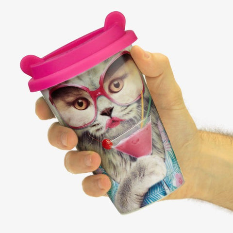 Coffee Crew Cat Travel Mug by Mustard Gifts on OOSTOR.com