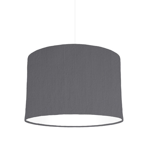 Grey lampshade With White Lining, 30cm wide
