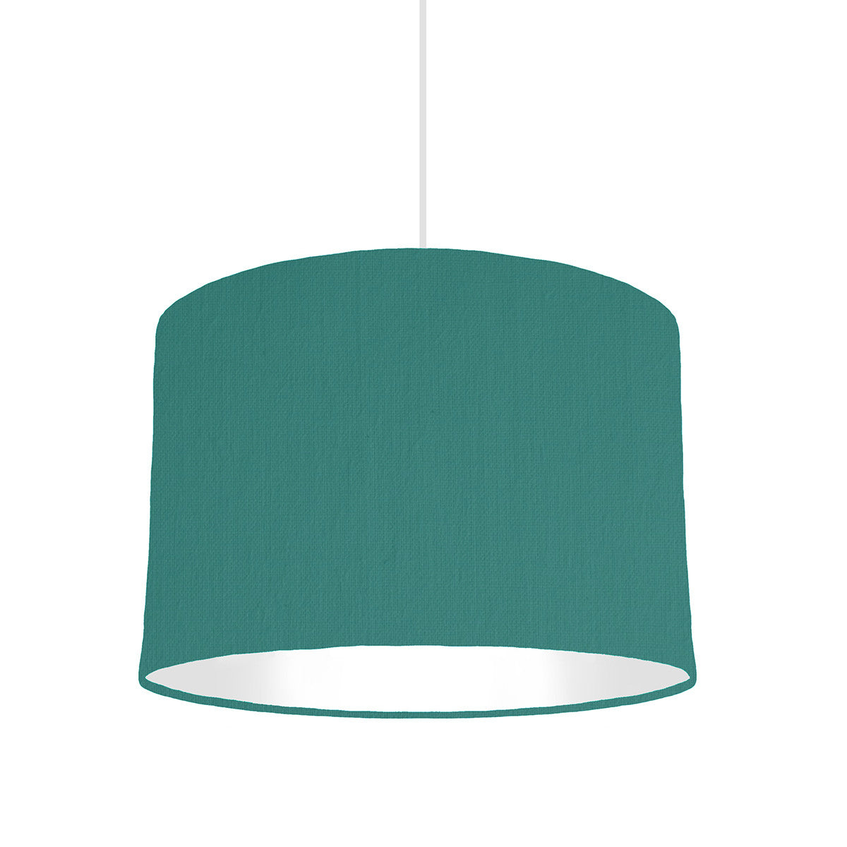 Jade Green Lampshade With White Lining, 30cm wide