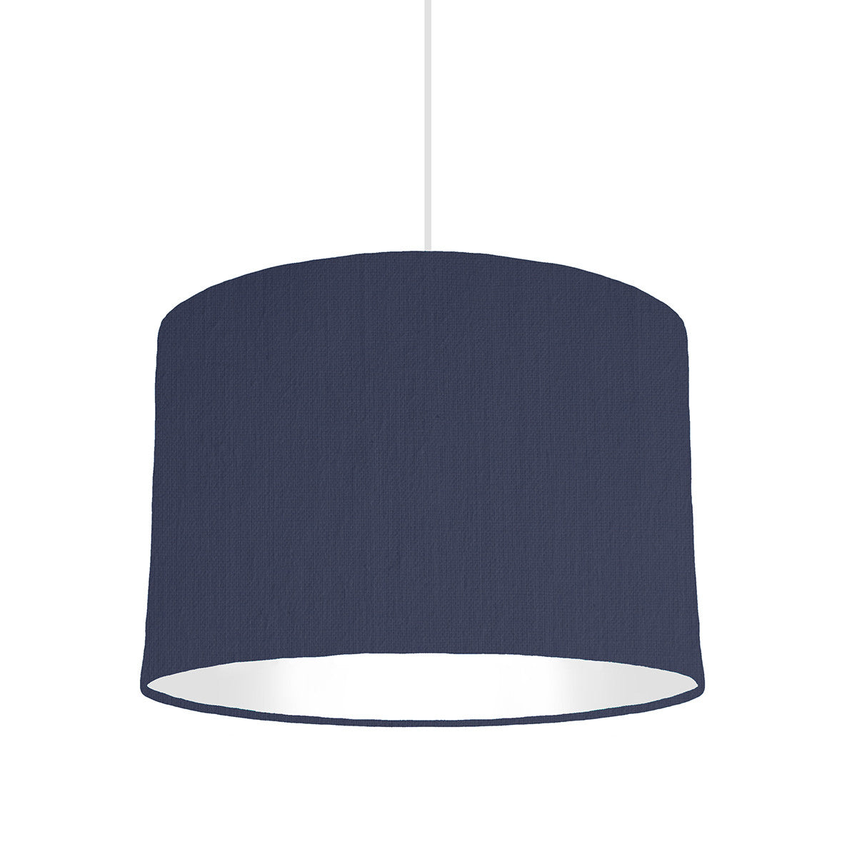 Navy Blue Lampshade With White Lining, 30cm wide