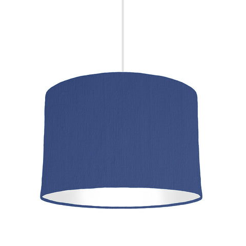 Royal Blue Lampshade With White Lining, 30cm wide