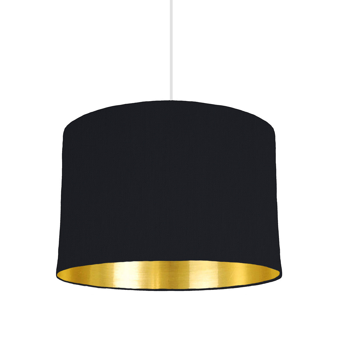 Black Lampshade With Gold Mirror Lining, 30cm wide