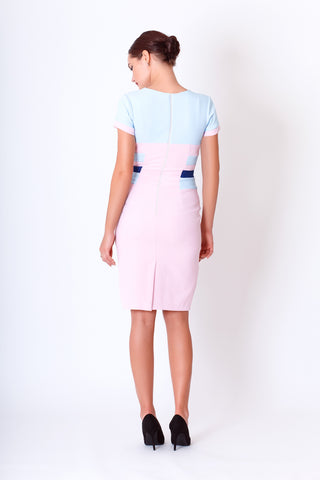 Serena dress in baby blue