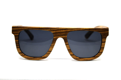 Zebra Wood, Polarised Lenses Handmade Sunglasses