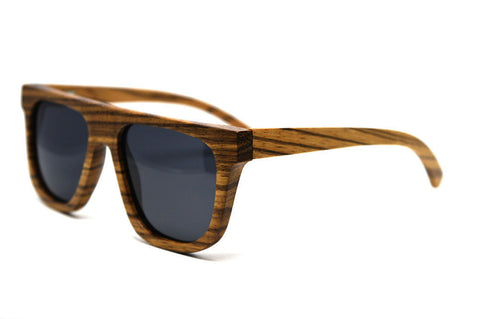 Zebra Wood, Polarised Lenses Handmade Sunglasses by Madia & Matilda on OOSTOR.com