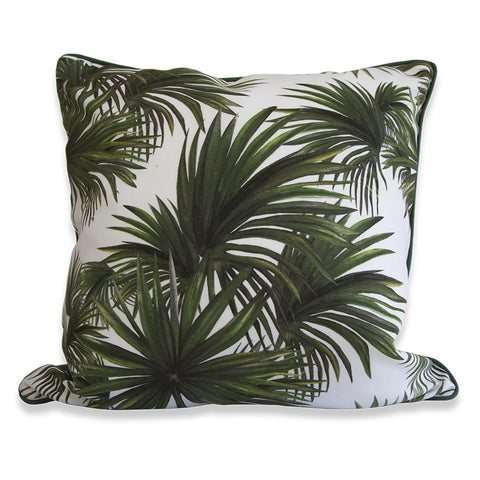 Silver Thatch Palm Cushion by Rosehip & Wild on OOSTOR.com