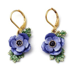 Anemone Violet Earrings