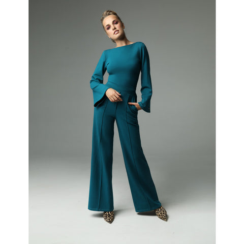 Line Pants - Dark Turquoise by Madnezz