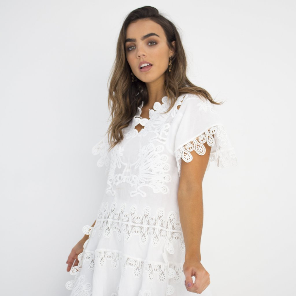 White Romance Dress by Wired Angel Ltd on OOSTOR.com