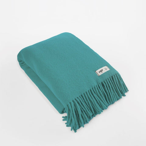 Green Sea YETI - Pure Wool Blanket by HOP Design on OOSTOR.com