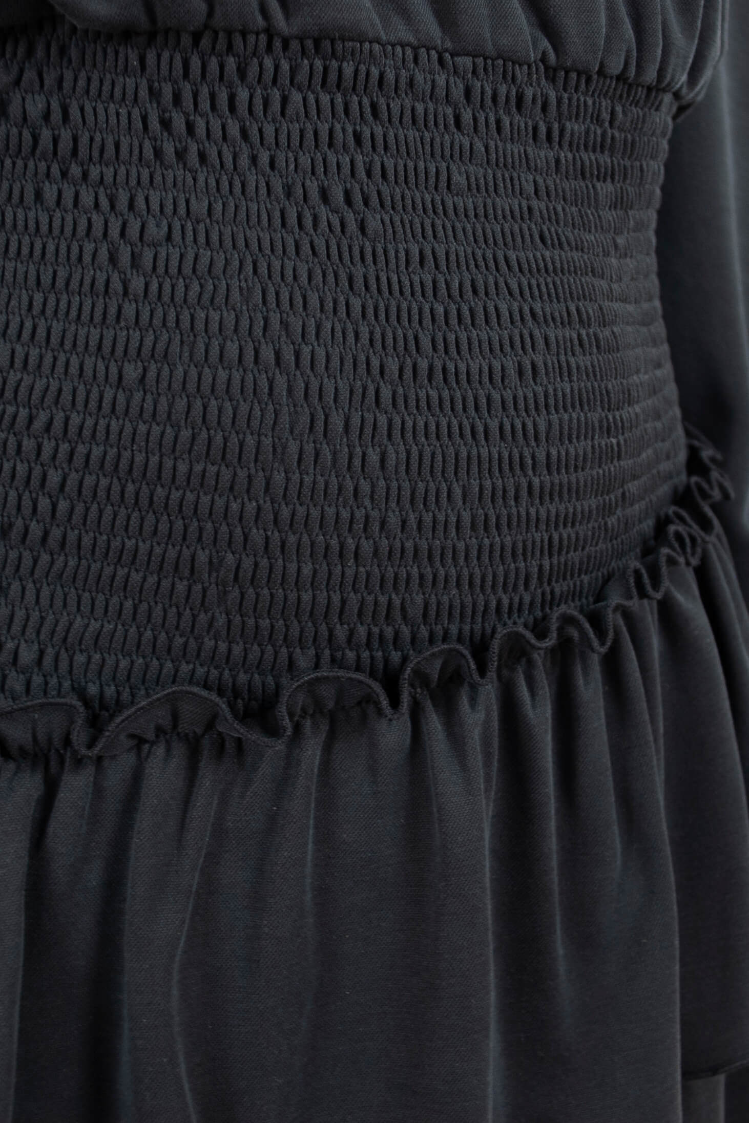 Black Dress with Ruffles by Bombshe