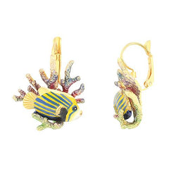 AngelFish and Reef Dormeuse earrings