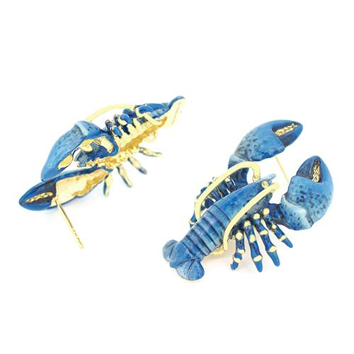 Blue Lobster Earrings